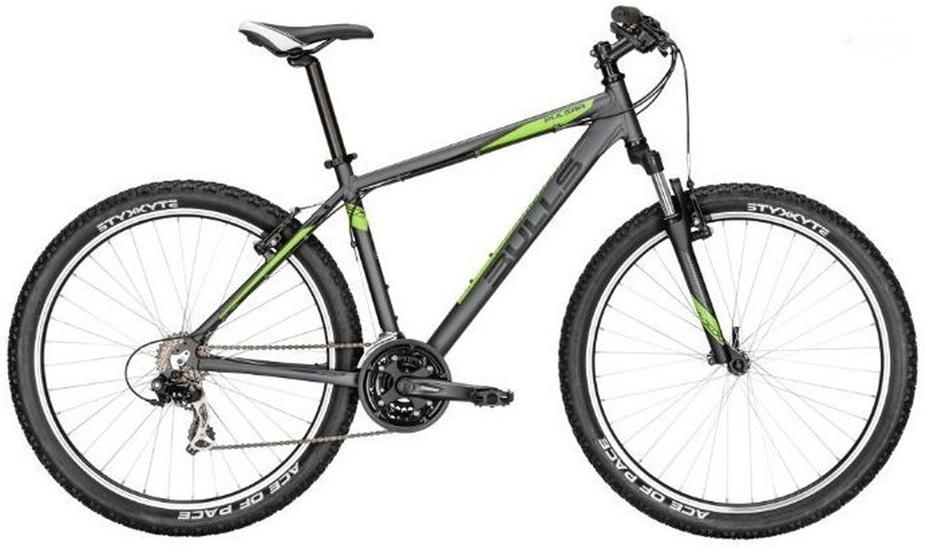 "Велосипед 17"" Bulls Pulsar 27.5D black matt (i-grey/neon green all matt) 41 см 16"" (57203041) фото"