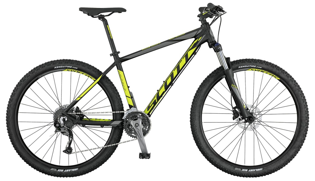"Велосипед Scott 17"" Aspect 740 Black/Yellow/Grey M фото"